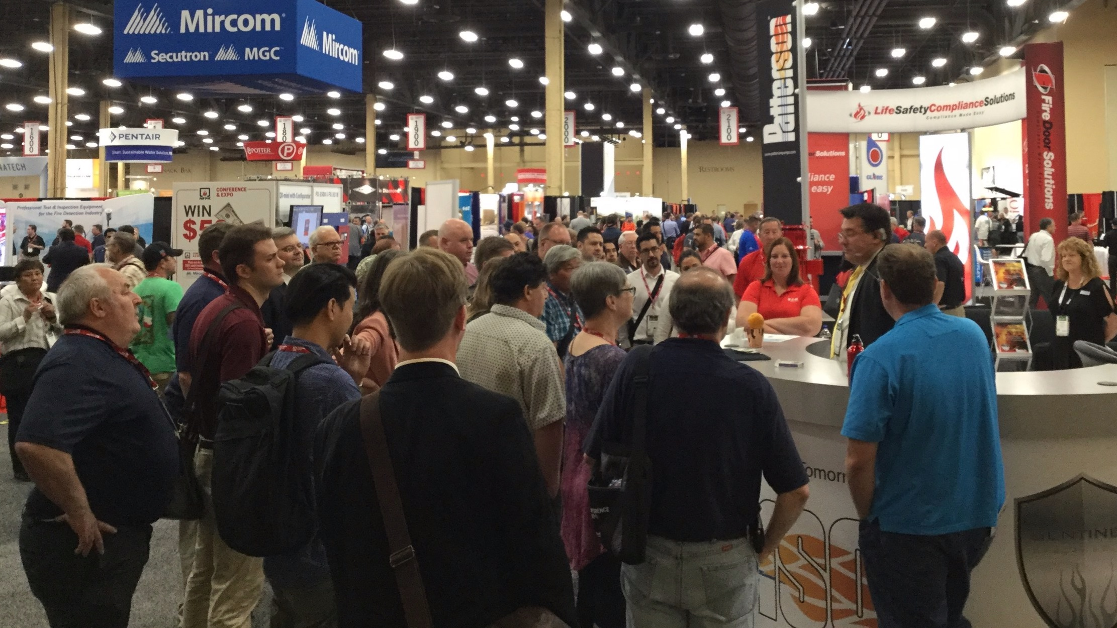 Mike Duseberg stops crowds for Patterson Pumps at NFPA 2018