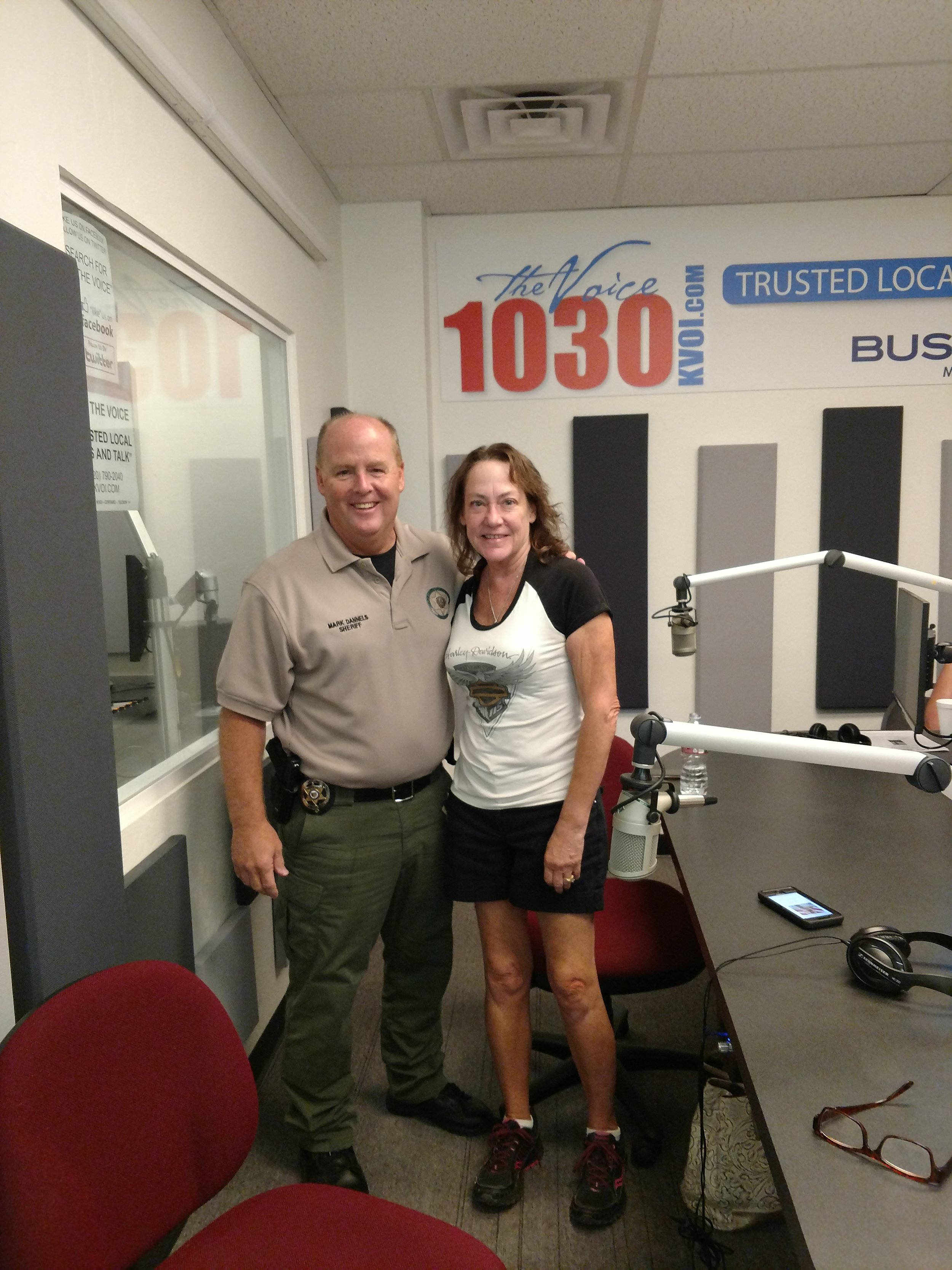 Cochise county sheriff Mark Dannels with Law Matters board Pres Annette.