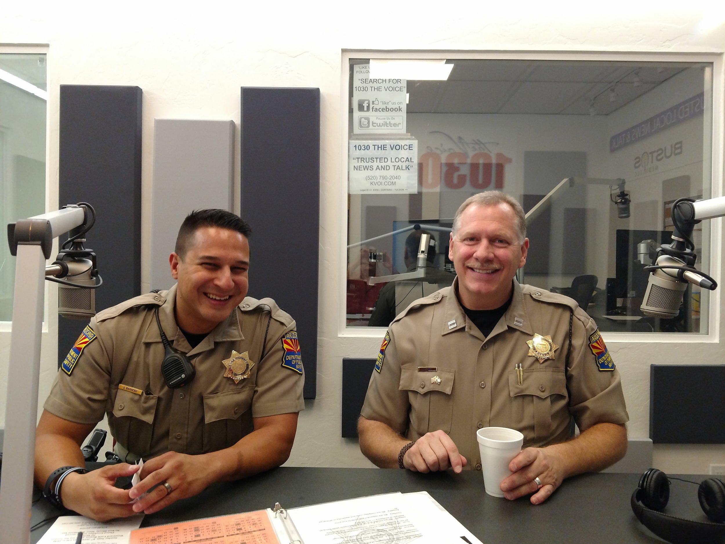 State Troopers Jonathan Barbeau & Captain Jeff Lane