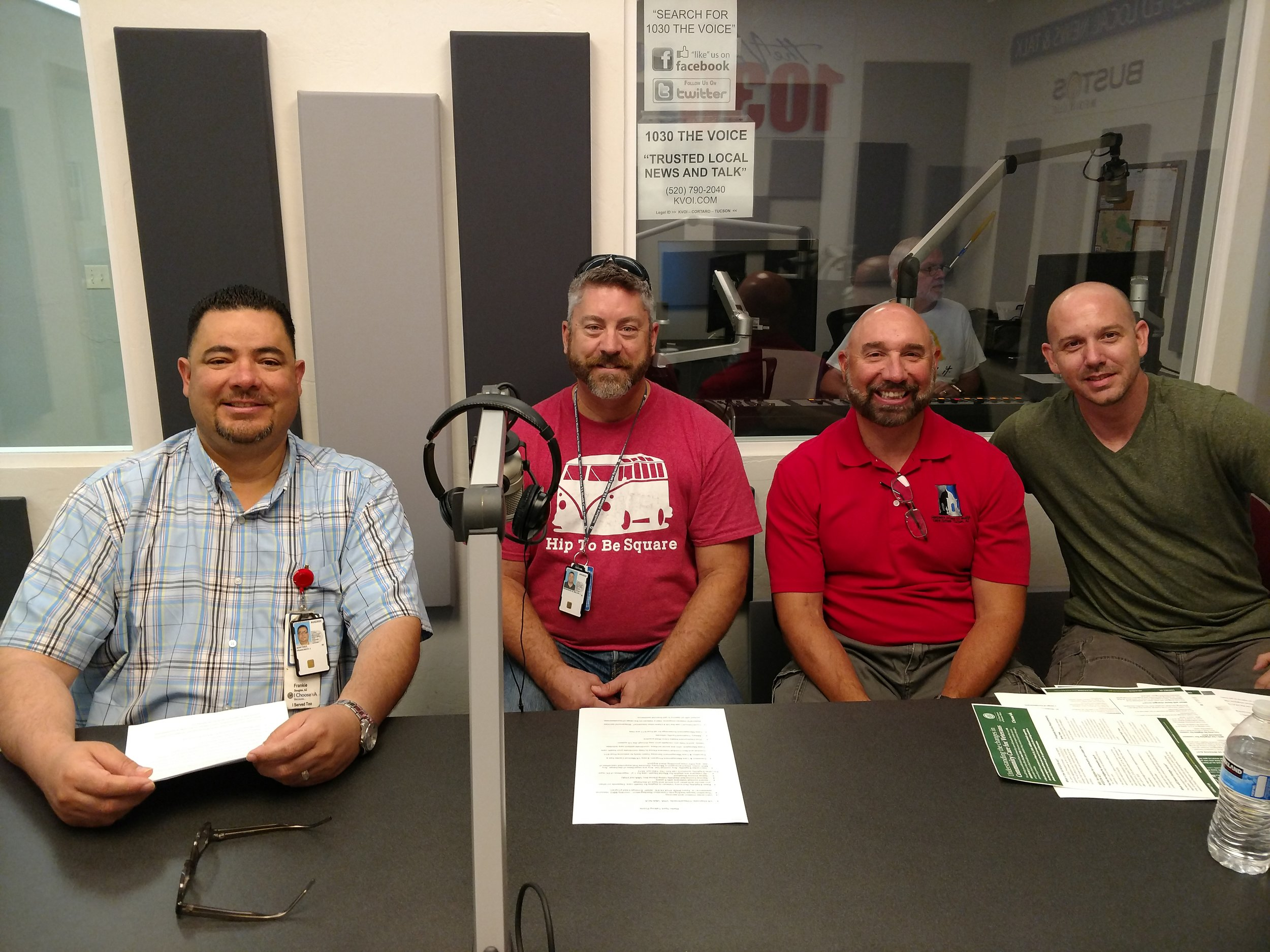 VA transition team. Frankie, Jay Mike, Keith.