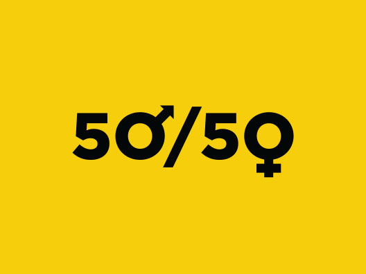 50/50 - Women/Men