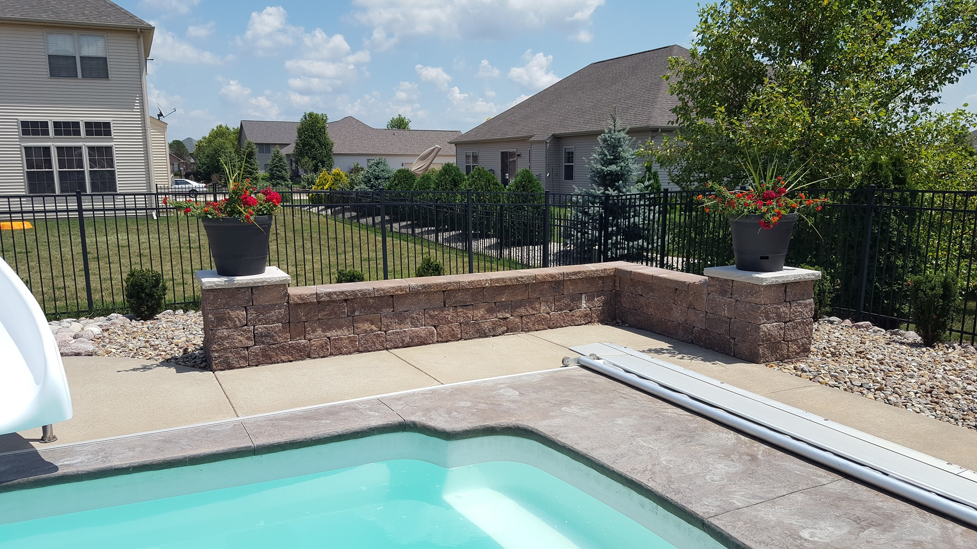 Copy of Copy of Copy of Copy of Copy of Pool patio with retaining wall in East Peoria, IL