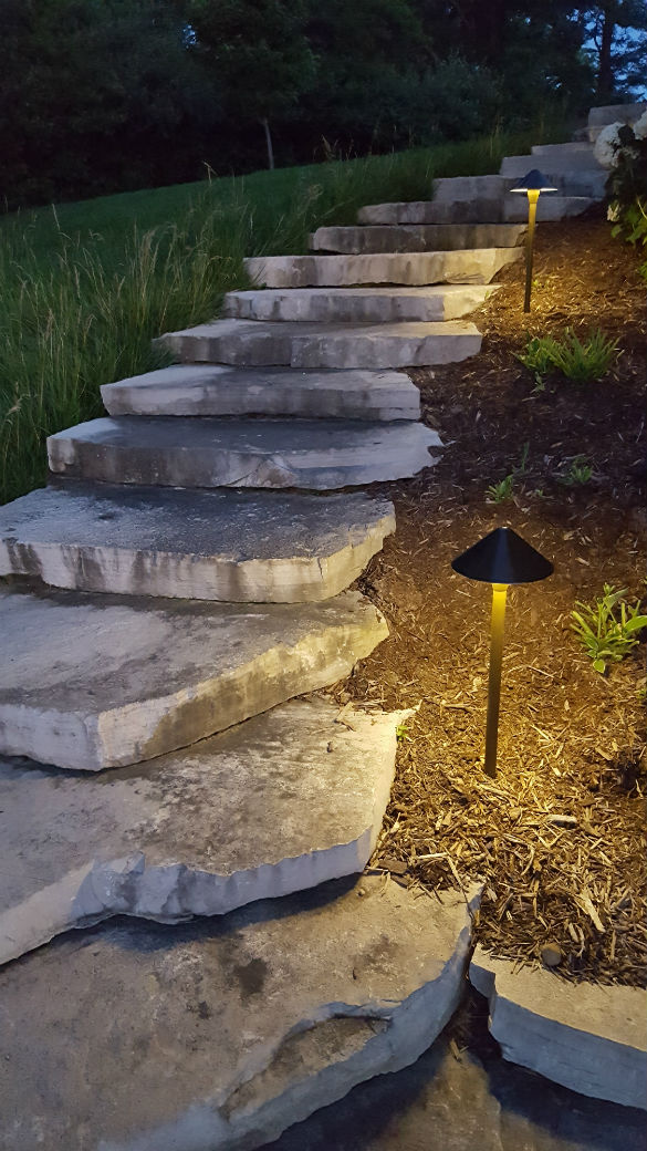 Walkway with outdoor lighting in East Peoria, IL