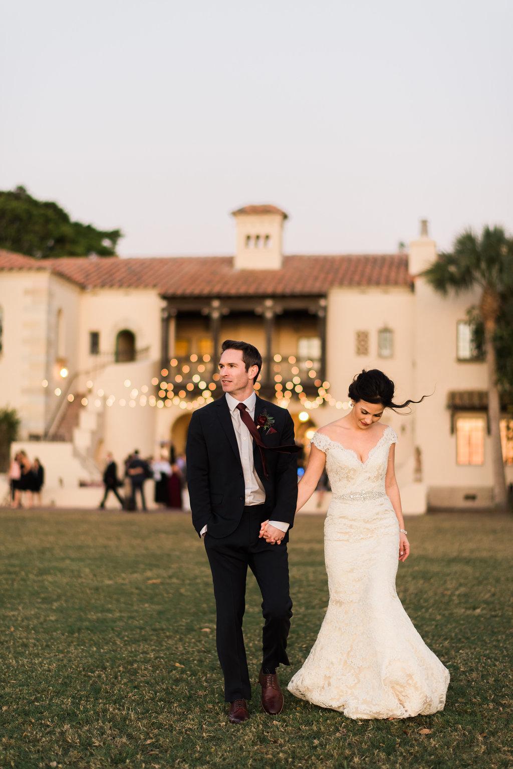 Jet Set Wed :: Candlelit Riverside Romance In Berry & Blush