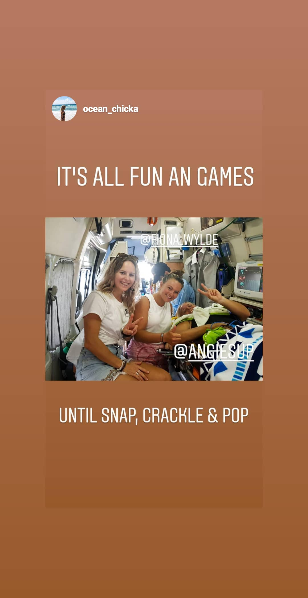 all fun until Snap - My 2 amazing Nurses