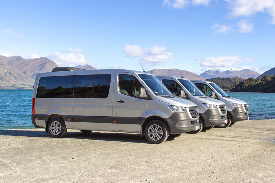 OUR FLEET - Consisting of top-of-the-line sedans, vans, mini-vans, 4WDs and coaches, the Limousine Services Queenstown fleet is anything but ordinary. Based on a belief that travel should be done in comfort and style, our fleet of chauffeur-driven private vehicles offers an exceptional mode of transport for luxury transfers and sightseeing.LEARN MORE »
