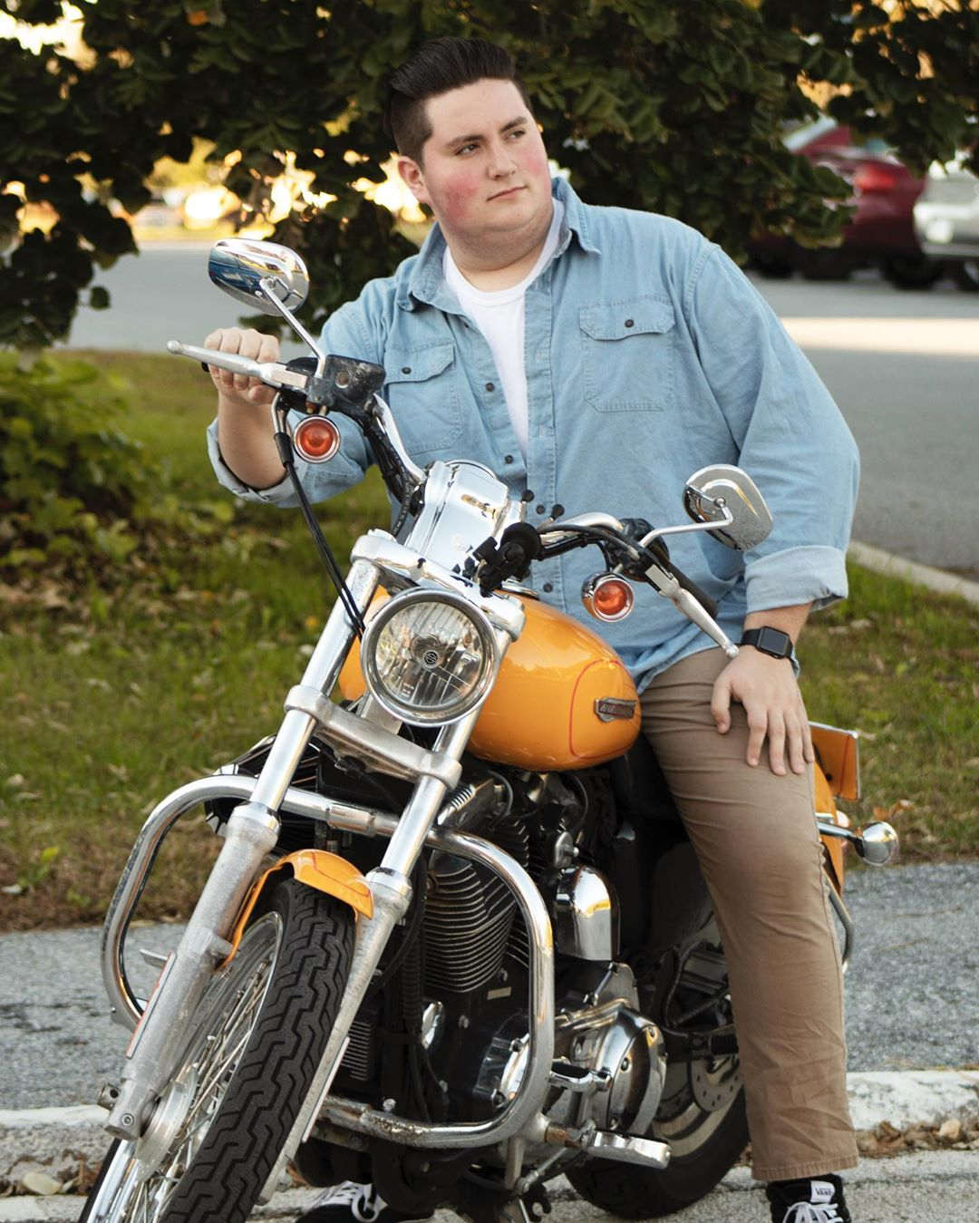 Fun Fact: This was a prop. I can't drive a motorcycle.