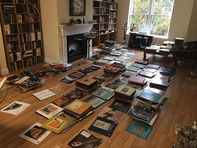 Time for reorganization & inventory! So thankful for the amazing record collection my parents have built up over the years. Some amazing finds here...