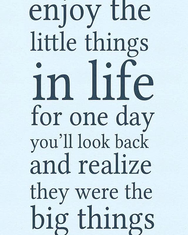 It's the little things in life... . . . . .
