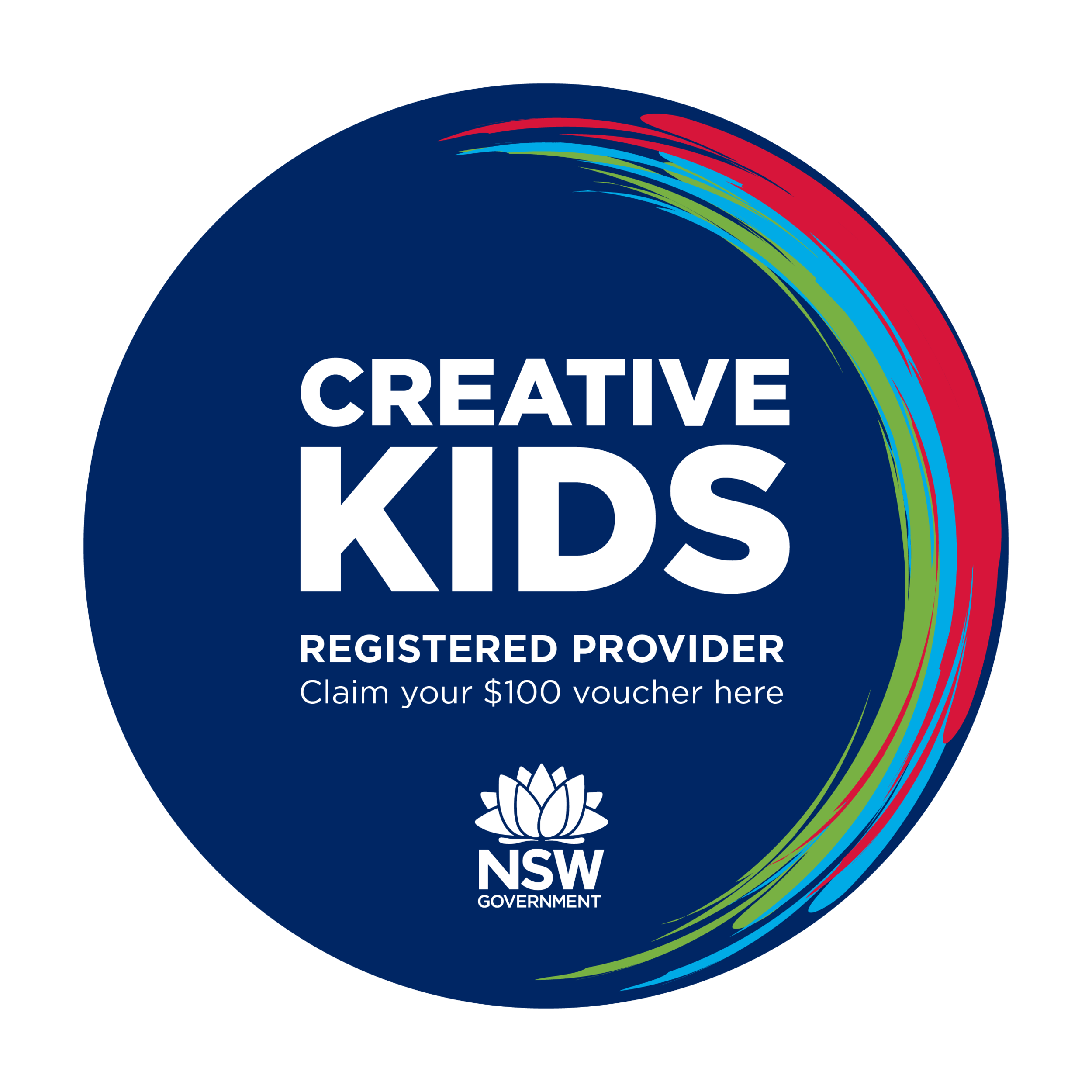 Claim your $100 Creative Kids Voucher - We are now a registered provider for Creative Kids Voucher. Claim your rebate through Services NSW portal and contact us to process your $100 rebate.