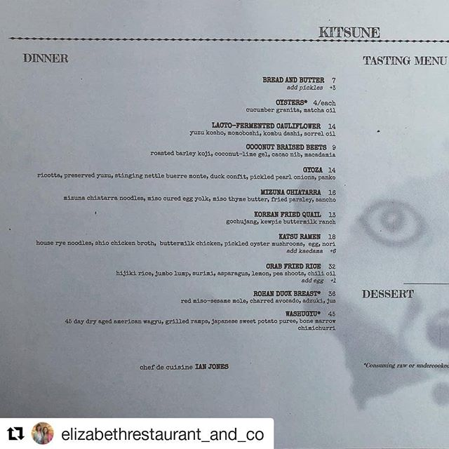 #Repost @elizabethrestaurant_and_co (@get_repost) ・・・ Windows are open! Ala carte menu poppin. @kitsunerestaurant get in here!