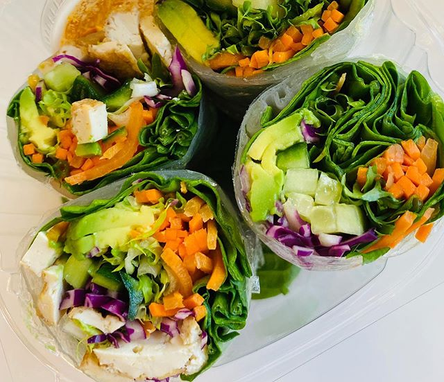 Back by popular demand.  Come get your fresh rolls made with rice paper, fresh vegetables, tofu, and avocado with a side of ginger curry sauce. #visitsavannah #savannahgeorgia #savannaheats #fresheats #veganfriendly #glutenfree #healthyeats #shugagirlsweethouse #shugarush