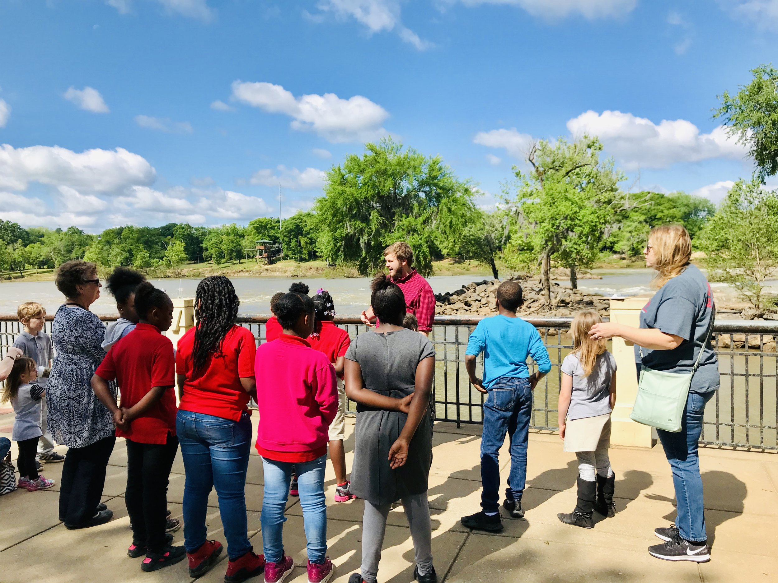 Asher Brooks, our tour guide, teaches our students.
