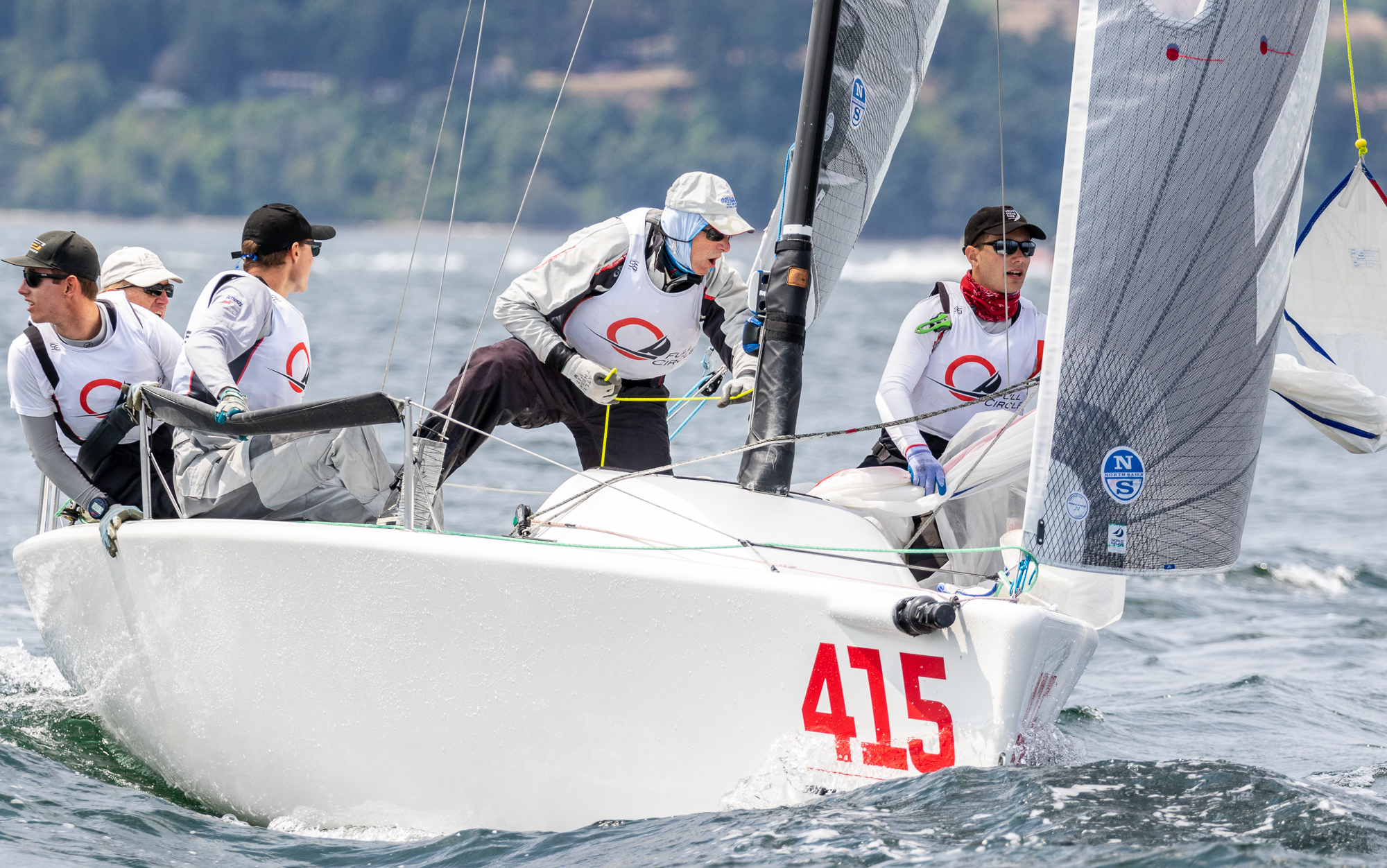 2018 Melges 24 National and World (Corinthian) Champion -    CAN415 FULL CIRCLE, Victoria, BC Canada;Bob Britten-Helm, Graham Harney, Jose Grandizo, Weigan-Gunn, Reid Cannon - Photo: IM24CA/ZGN   Following a convincing overall win in the first race Victoria's Bob Britten and crew CAN415 FULL CIRCLE found their way to the top of the Corinthian fleet and fifth overall. Local speedster CAN151 SUNNYVALE steered by Frazer McMillan and Mike Bond's CAN 591 HOLD MY BEER of Vancouver made for an all-BC Canada Corinthian National Championship podium.    Results