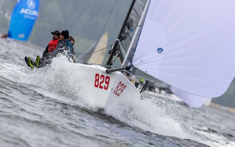 Alan Field's WTF USA829, scoring 7-6 today, maintains steadily the control of the third place.- Photo (c)IM24CA/Zerogradinord
