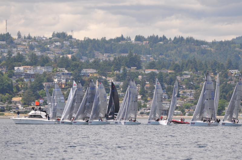 Melges 24 Canadian Nationals 2018 are about to start - photo Thomas Hawker