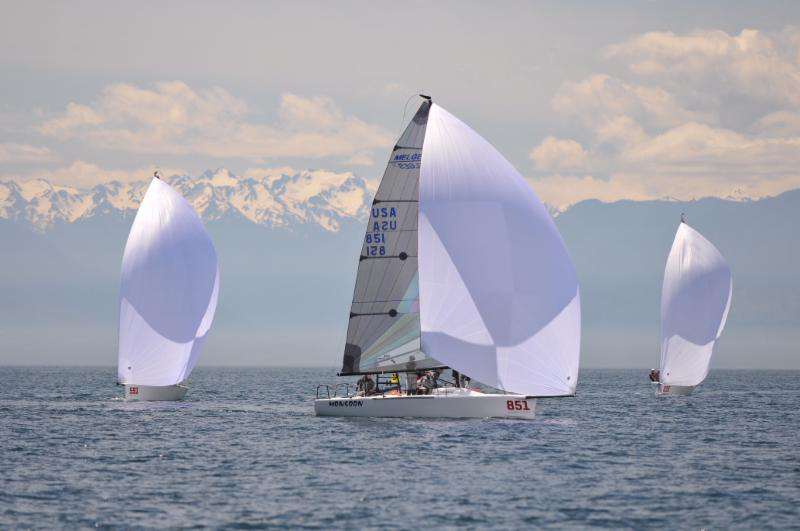 Monsoon USA851 by Bruce Ayres was winning the second race of the day - photo Thomas Hawker