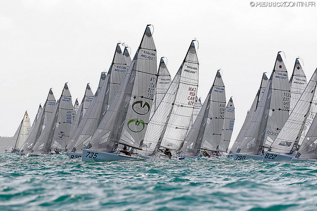 Melges 24 fleet at the Melges 24 World Championship 2016 in Miami - photo (c) Pierrick Contin