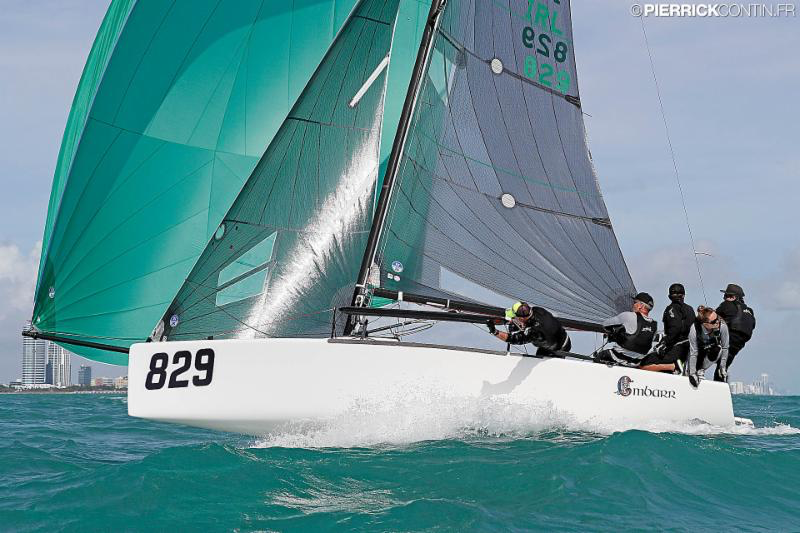 Conor Clarke_s Embarr IRL829 - 2016 Melges 24 World Championship - Miami - Day 1 - photo (c) Pierrick Contin
