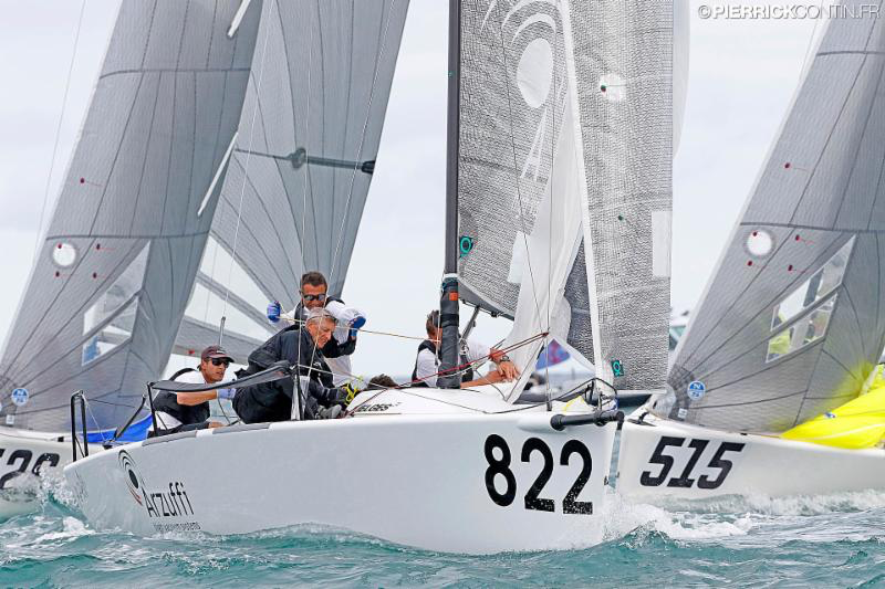 Gian Luca Perego's Maidollis 3 ITA822 with Carlo Fracassoli helming - 2016 Melges 24 World Championship - Miami - Day 4 - photo (c) Pierrick Contin