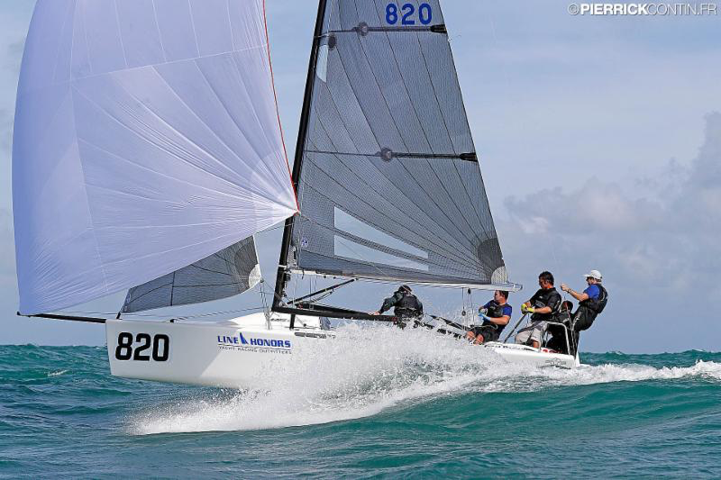 Bora Gulari's Air Force 1 USA820 - 2016 Melges 24 World Championship - Miami - Day 1 - photo (c) Pierrick Contin