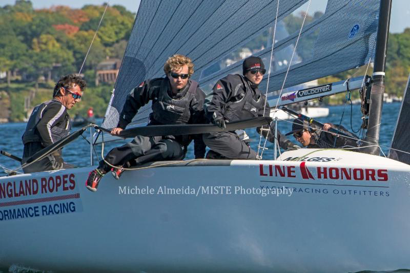 Bora Gulari's team West Marine Rigging - the winner of the 2016 Line Honors US Melges 24 Championship at Lake Geneva, Wisconsin - photo Michele Almeida/MISTE Photography