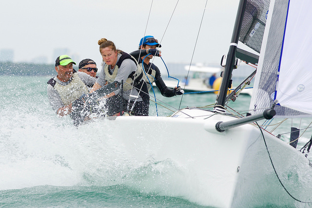Aoife English on Embarr IRL829 at the 2016 Melges 24 Madness Regatta in Miami - photo (c) Petey Crawford / penaltyboxproductions.com