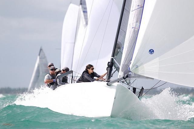 Jessica Koenig on Monsoon USA851 at the 2015 Miami Yacht Club Melges 24 Invitational regatta - photo (c) Petey Crawford / penaltyboxproductions.com