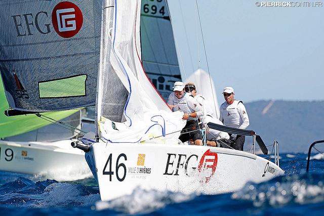 Chris Rast's EFG (SUI684) at the 2016 Marinepool Melges 24 Europeans in Hyeres, France - photo Pierrick Contin