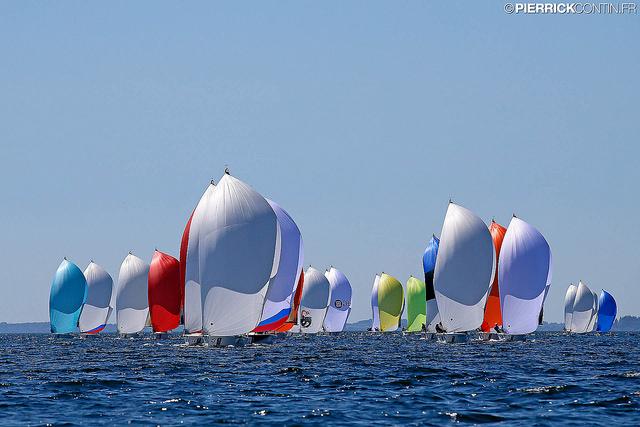Melges 24 fleet at the 2015 World in Middelfart, Denmark - photo Pierrick Contin