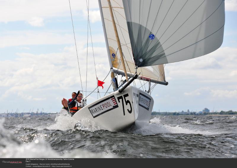 Racing at the 2010 Marinepool Melges 24 World Championship in Tallinn, Estonia - photo Pierrick Contin