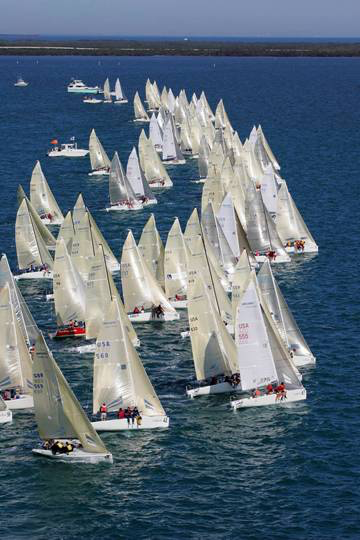 2005 Melges 24 World Championship in Key Largo with 99 boats