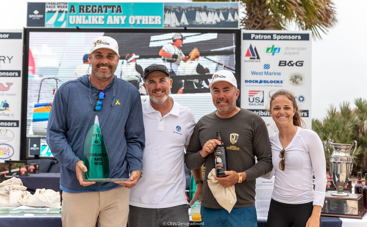 Travis Weisleder and his team of Lucky Dog / Gill Race Team - 2019 Champions of the Sperry Charleston Race Week in Melges 24 class! Photo Zerogradinord / Mauro Melandri
