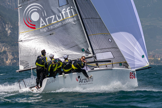 The third event of the 2019 Melges 24 European Sailing Series goes to Maidollis ITA854  by Gian Luca Perego with Carlo Fracassoli at the helm and Enrico Fonda in tactics. Photo (c)IM24CA/Zerogradinord