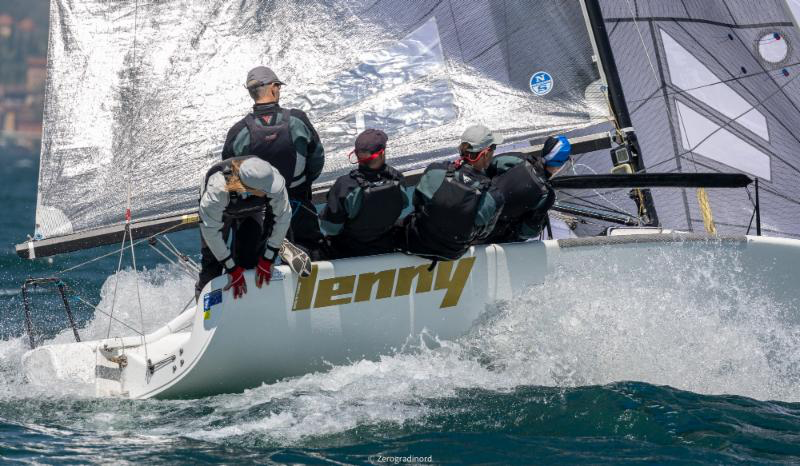 Tõnu Tõniste's Lenny EST790 is currently on top of the Melges 24 European Sailing Series' ranking after three events held. Photo (c)IM24CA/Zerogradinord