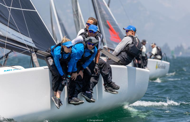 Miles Quinton's Gill Race Team with Geoff Carveth helming from Great Britain completes the provisional top three of the 2019 Melges 24 European Sailing Series. Photo (c) IM24CA/Zerogradinord