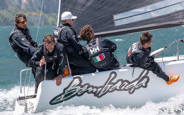 Andrea Pozzi's Bombarda from Italy is on the fourth position in the current 2019 Melges 24 European Sailing Series' ranking. Photo (c) IM24CA/Zerogradinord
