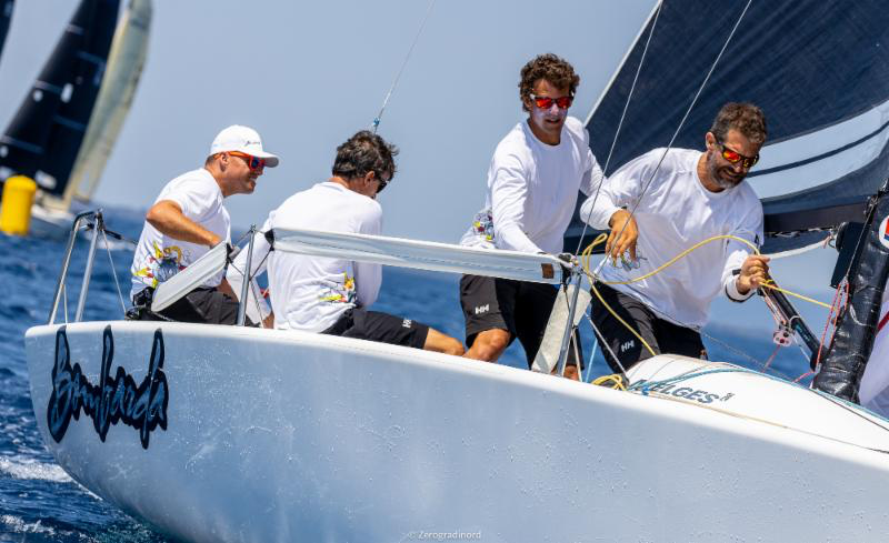 Bombarda  by Andrea Pozzi is ranked as third after Day One in Scarlino. Photo @IM24CA/Zerogradinord