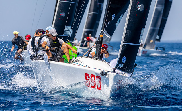 Provisional bronze medal for another Italian crew,  Melgina  (3-8-1) by Paolo Brescia, winner of the third and last race of the day. Photo @ IM24CA/Zerogradinord