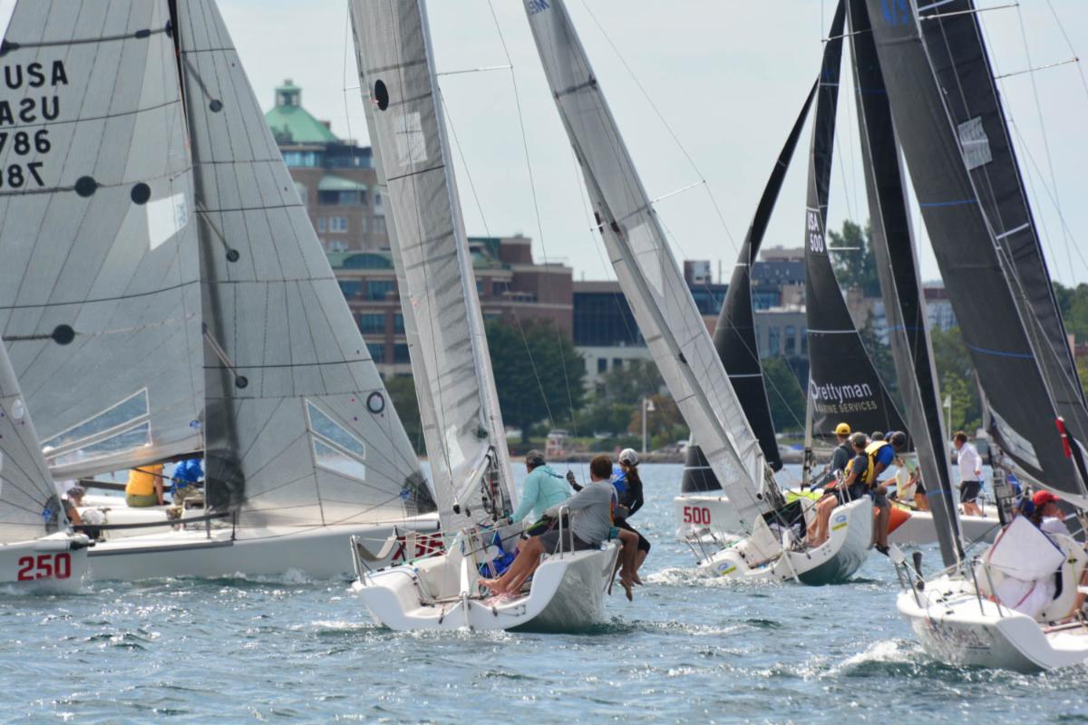 Melges 24 fleet in Grand Traverse, Michigan - photo © Grand Traverse Yacht Club