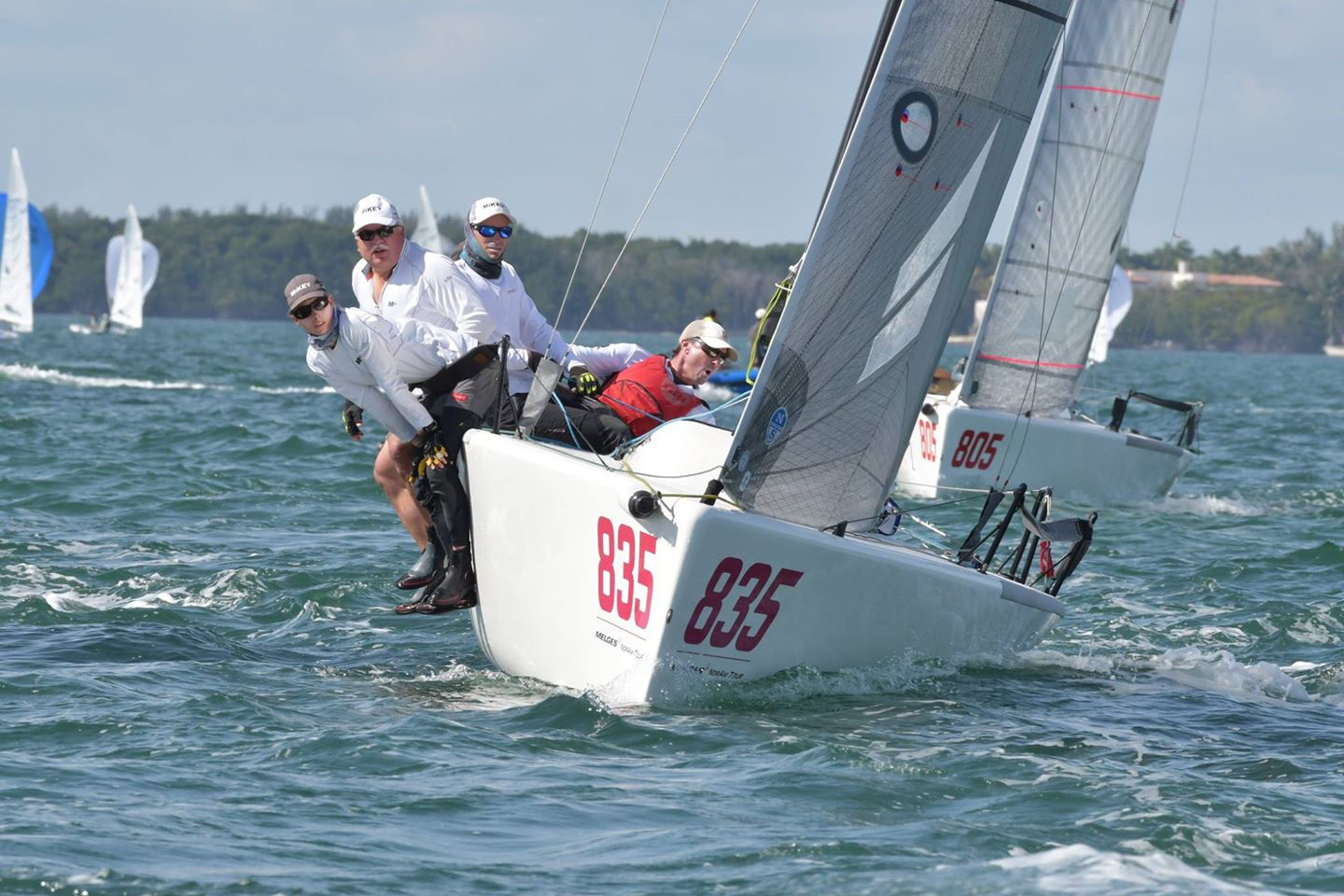 U.S. Melges 24 National Ranking Series leader Kevin Welch aboard MiKEY with the famed Jeff Madrigali on the helm - photo © Bacardi Winter Series 2019