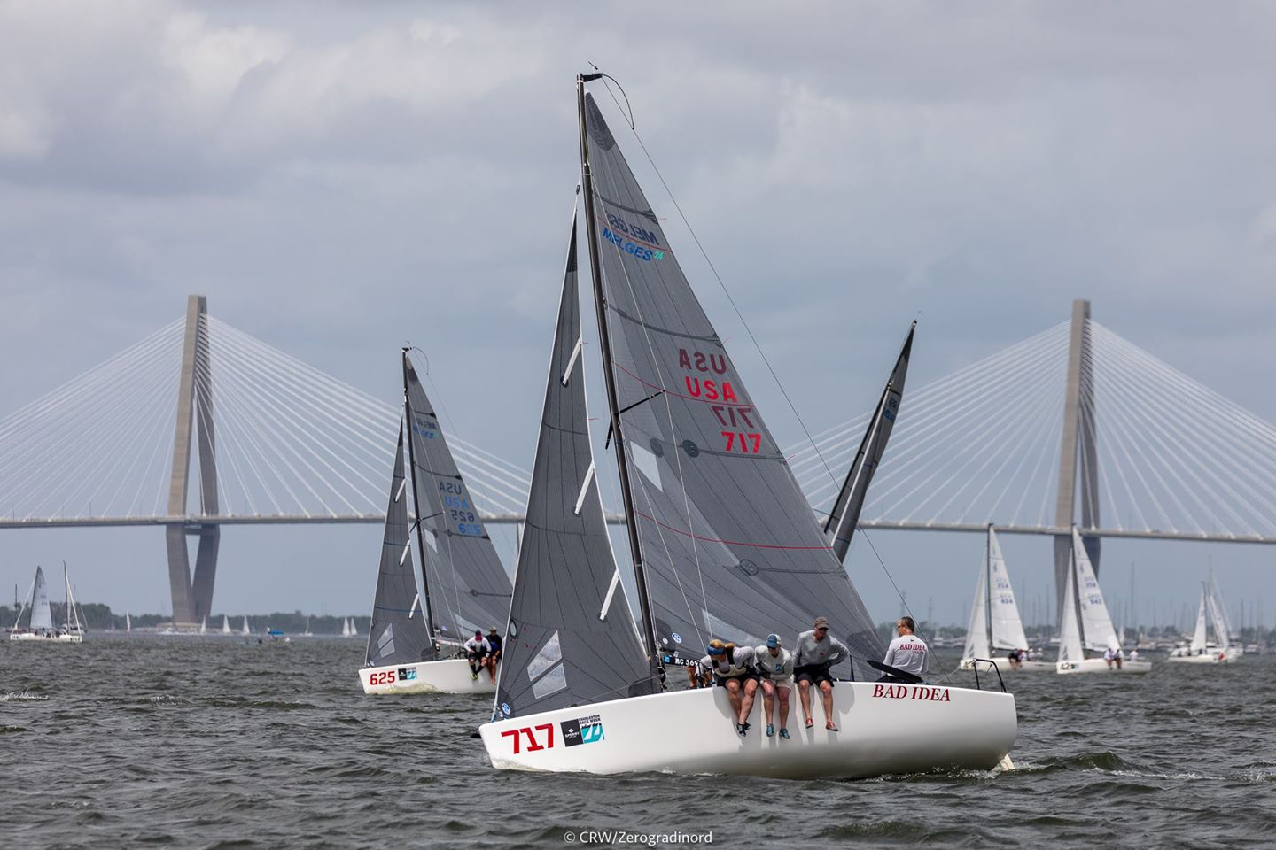 Besides being the main organizer of the Melges 24 North American Championship, Scot Zimmerman on her Bad Idea will fight for the Corinthian title - photo @ CRW/ZGN