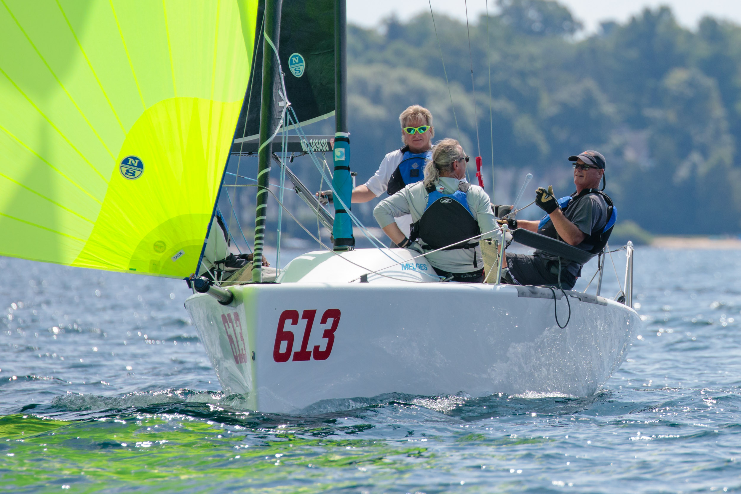 More than a Class stalwart, Mike Dow' s  Flying Toaster  had a great top ten day - a big bullet in Race Three put him in second overall and Top Corinthian. - ©Bill Crawford - Harbor Pictures Company
