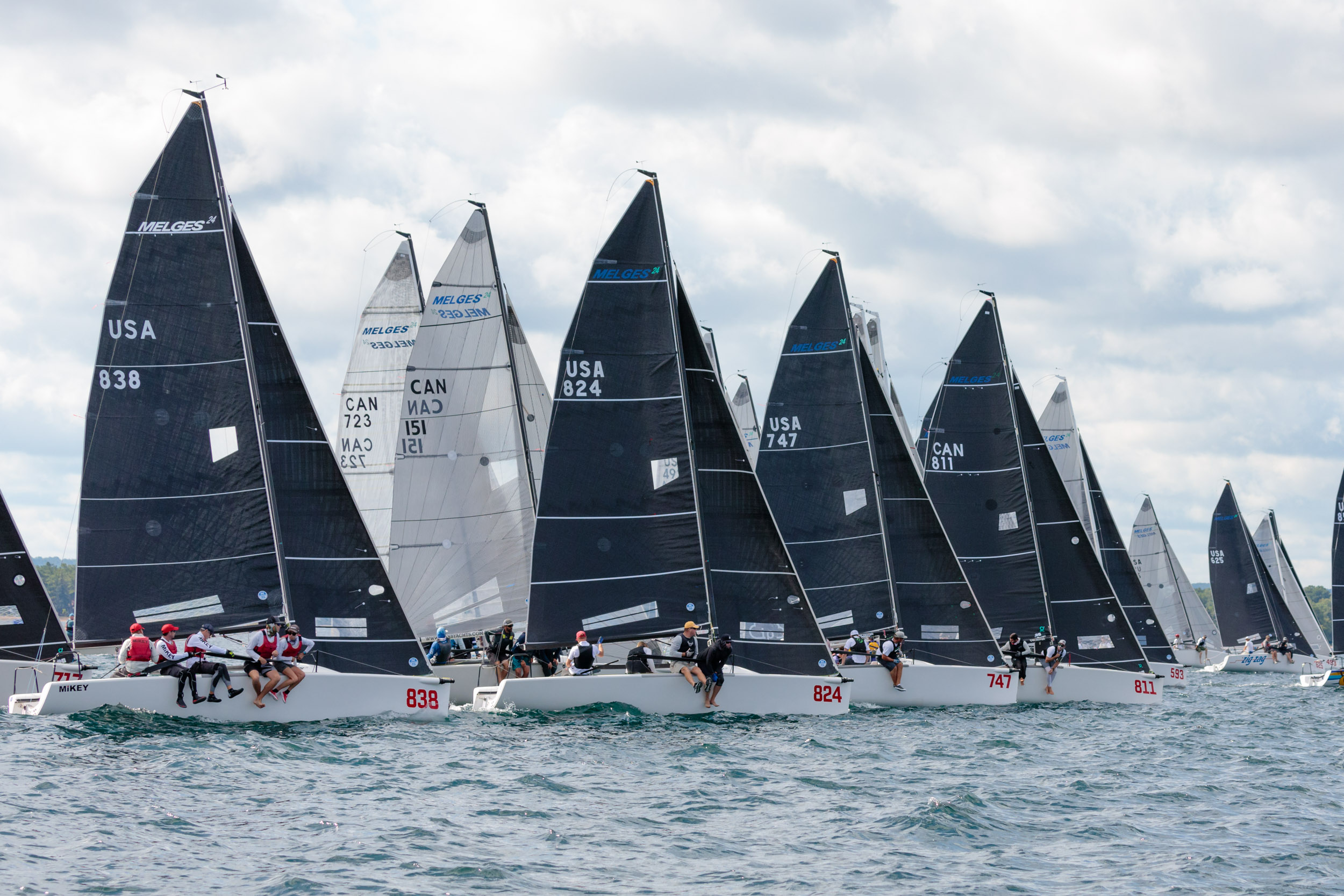 Richard Reid' s  Zingara  (CAN811) had great starts and solid racing to maintain the overnight lead once again at the 2019 Melges 24 North American Championship.- ©Bill Crawford - Harbor Pictures Company
