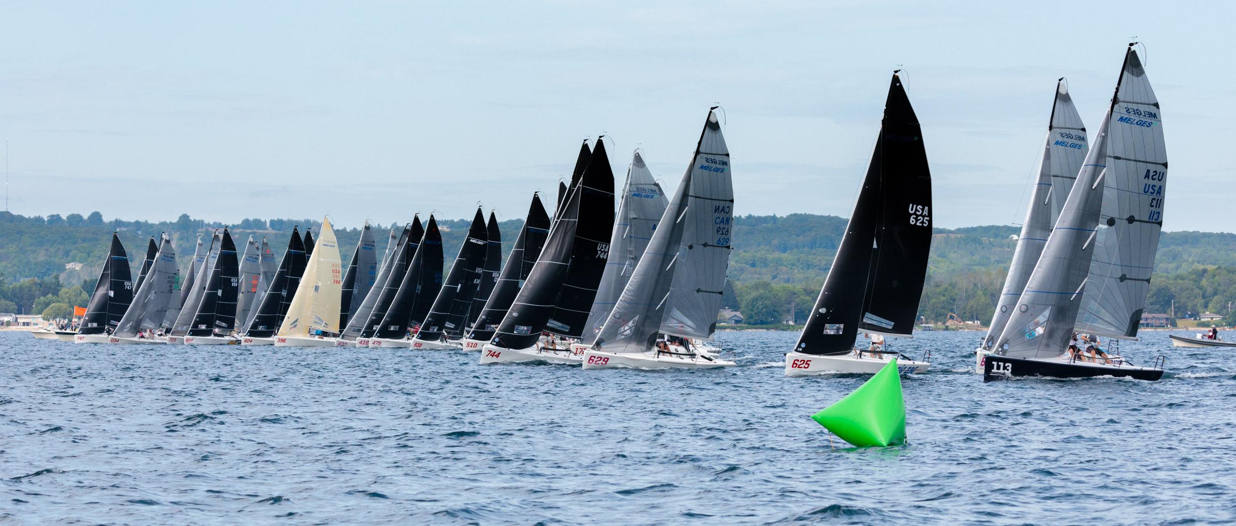 2019 Melges 24 North American Championship fleet racing. © Bill Crawford - Harbor Pictures Company