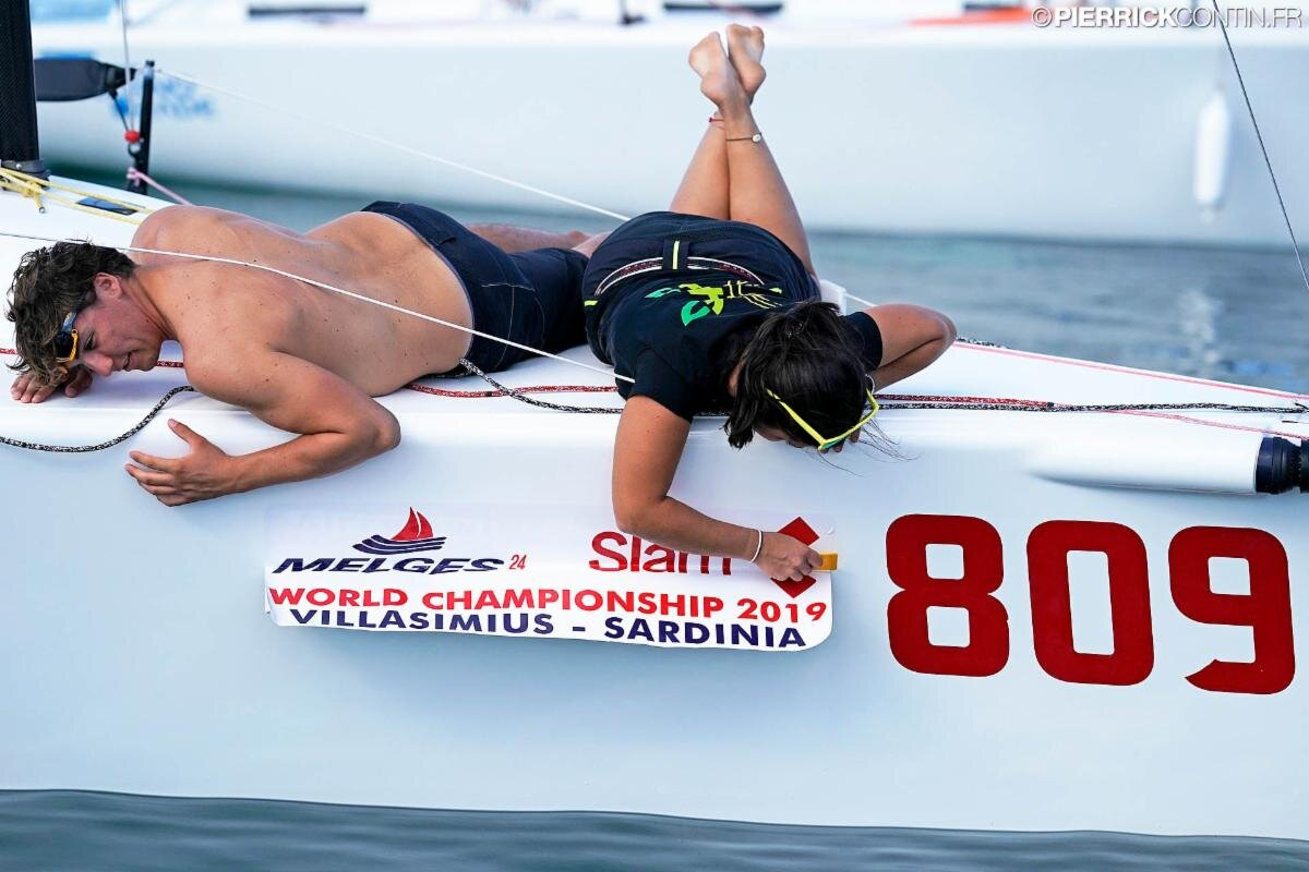 Event stickers to the bow and almost ready to race! - photo ©Pierrick Contin/IM24CA