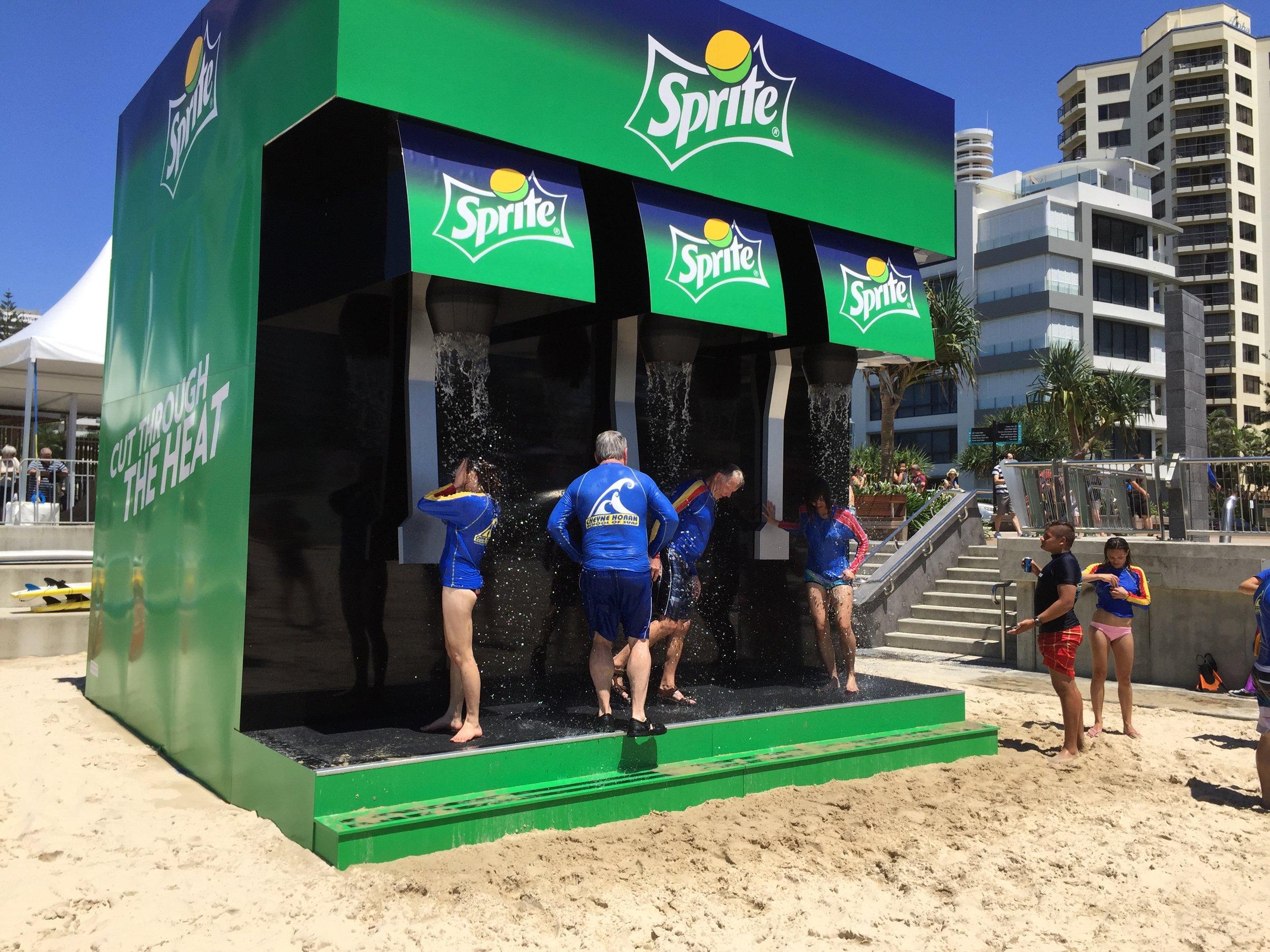 Sprite Beach Shower, Surfers Paradise, 2015