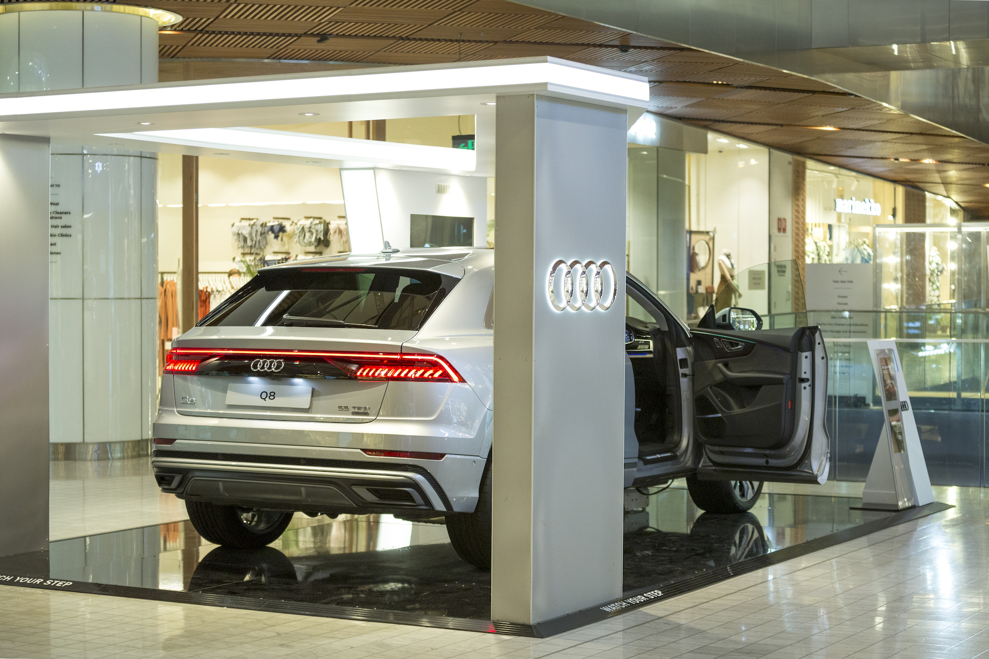 Audi Q8 Launch Display at Westfield Sydney, 2019