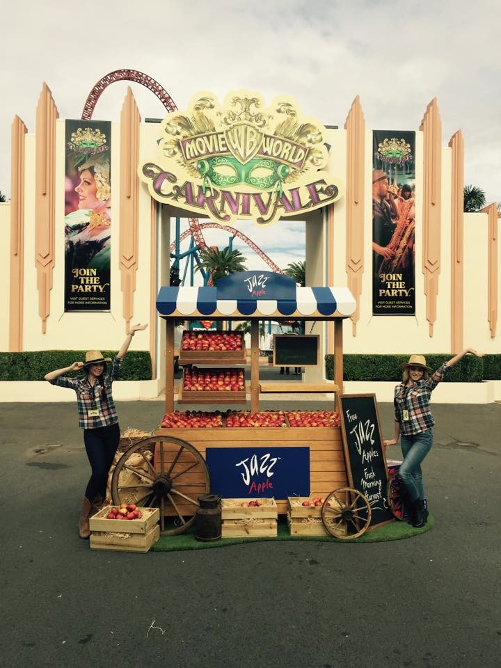 Jazz Apples at Movieworld, 2015