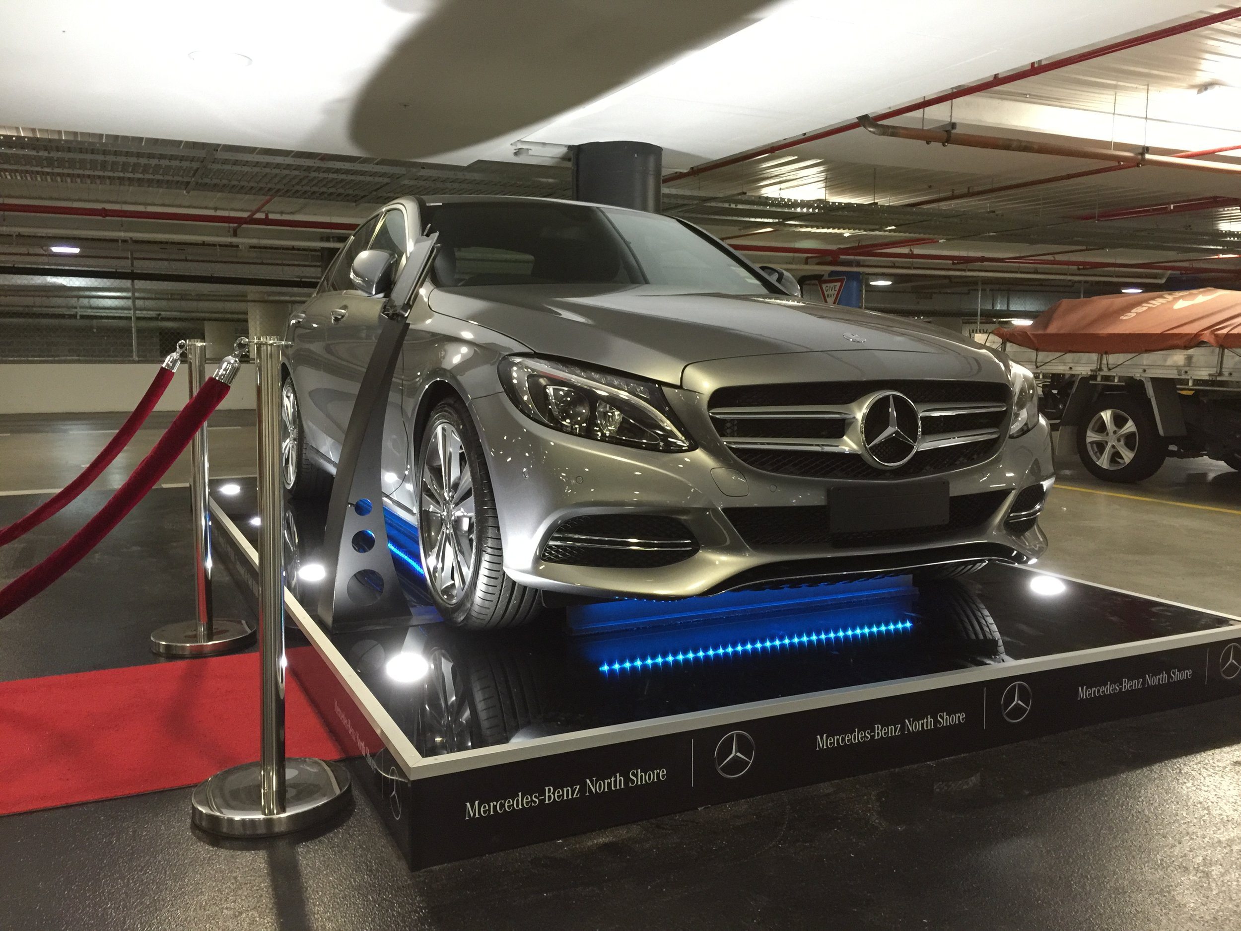 Custom built display stand for Mercedes, 2015